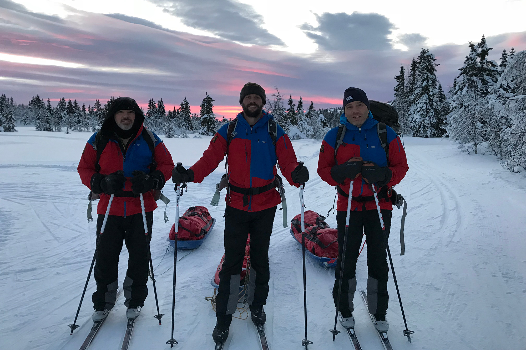 Richard, Matthew & Simon Reed training in Norway, January 2018