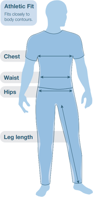 Páramo Men's ATHLETIC FIT Size Guide