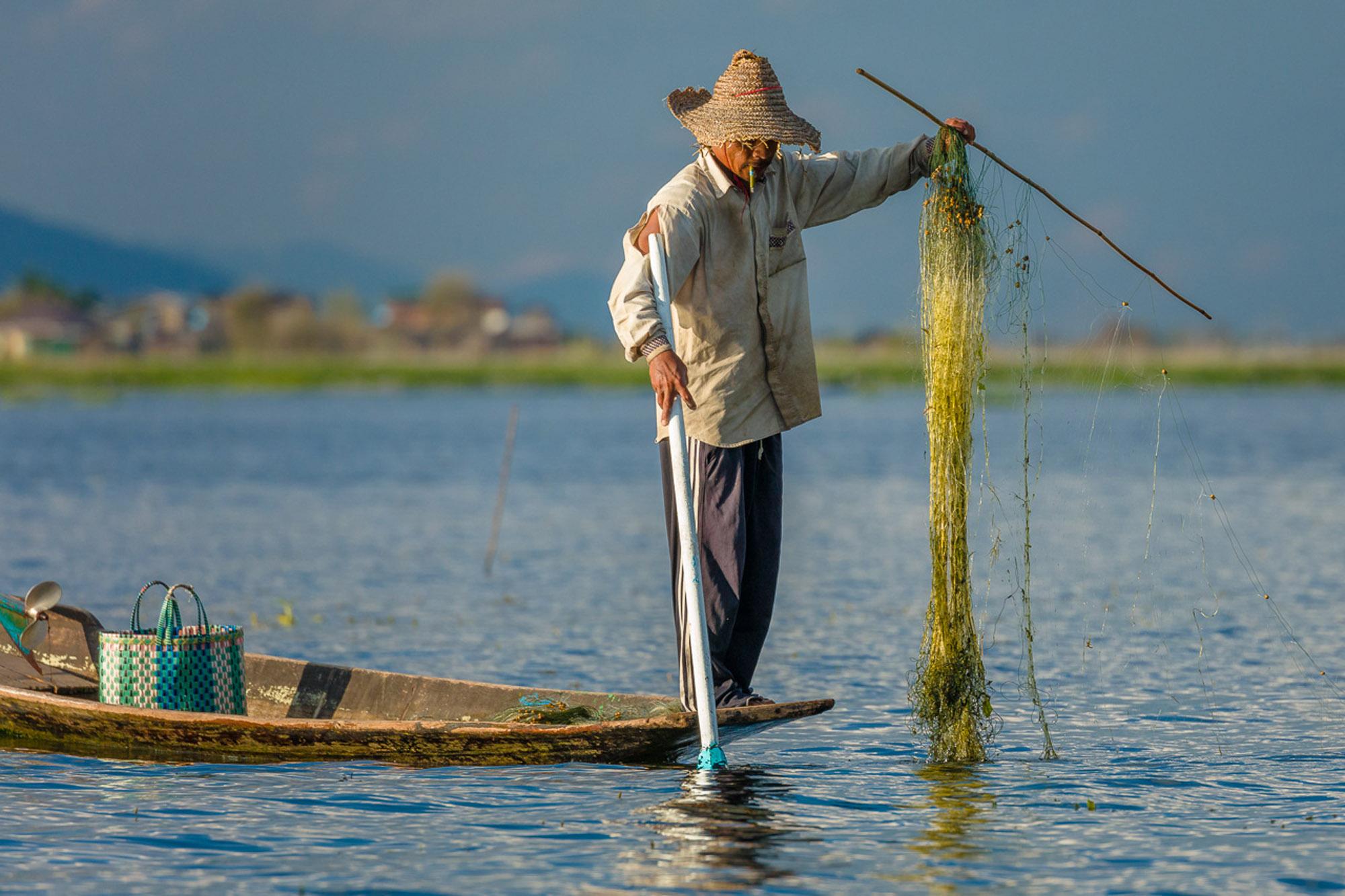 Traditional, sustainable fishing, Myanmar