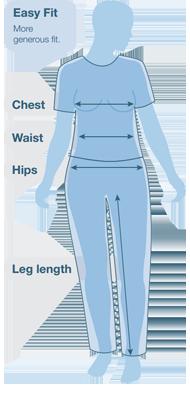 Páramo Ladies' EASY FIT Size Guide