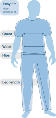 Páramo Men's EASY FIT Size Guide