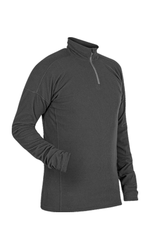 Large Paramo Directional Clothing Systems Mens Grid Technic Athletic Base Layer Black